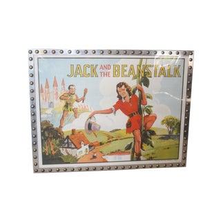 1930s Framed Promo Chromolithograph Jack Beanstalk For Sale