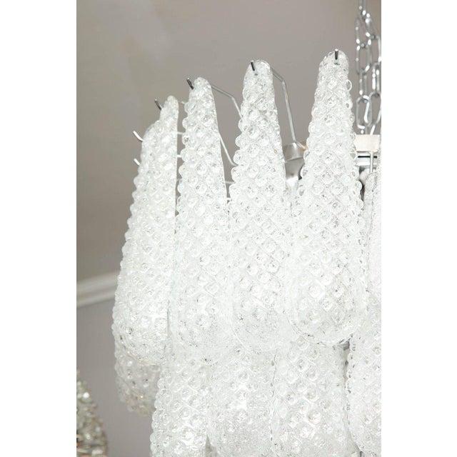 Murano glass honeycomb chandelier.