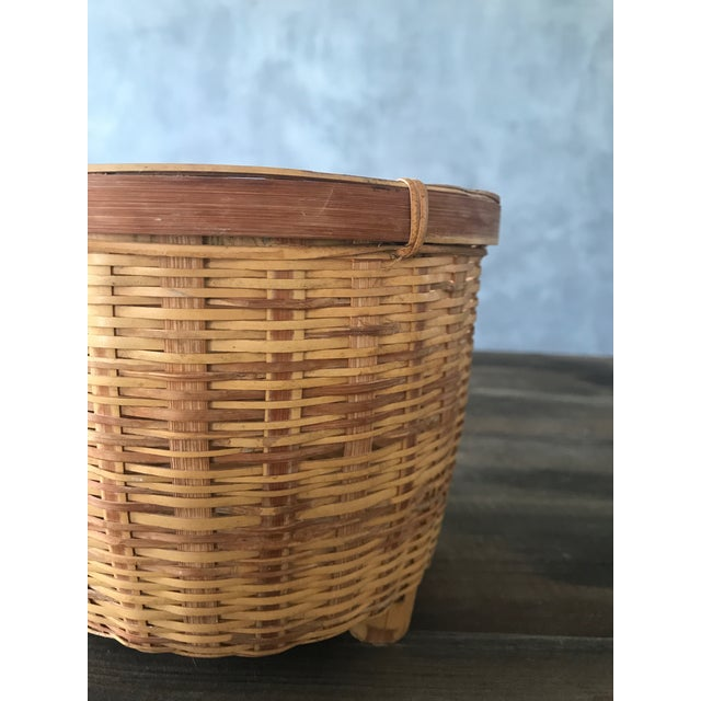 Jungalow Style Small Rattan Basket - Image 4 of 6