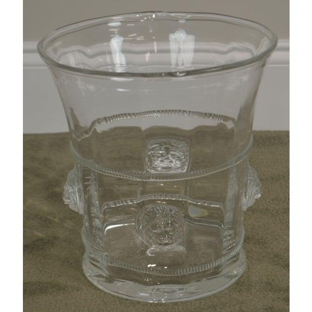 2000 - 2009 Abigails Czech Republic Lion Head Glass Ice Bucket For Sale - Image 5 of 13