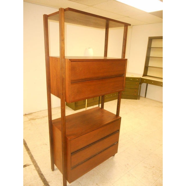 Stanley Danish Mid-Century Modern Wall Unit - Image 3 of 8
