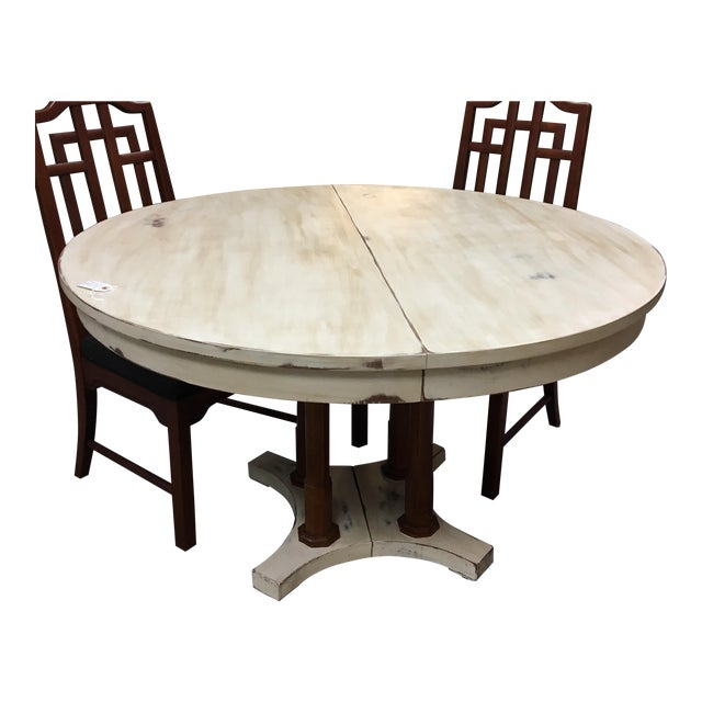 Expandable Round Farm Table For Sale - Image 4 of 6