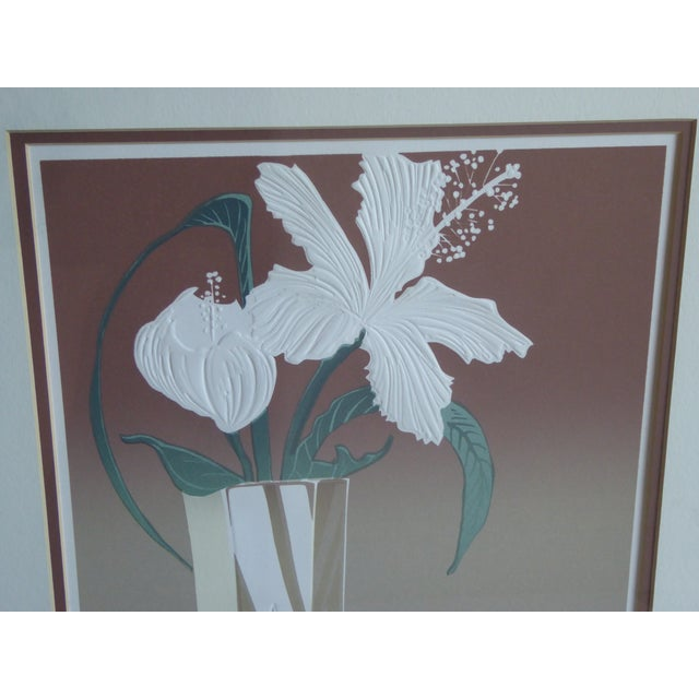 Crystal Hibiscus Embossed Serigraph by Roy Williams - Image 3 of 6