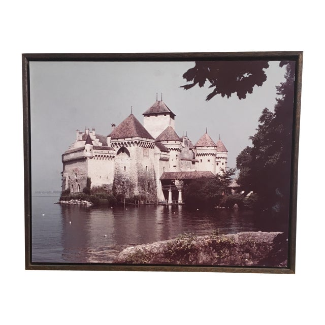 Bohemian Castle Rustic Wood Framed Photograph - Image 1 of 4