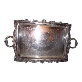 Huge Wallace Silverplate Tray For Sale