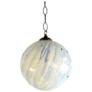 Murano Controlled Bubble Hanging Globe Shade Chandelier Fixture For Sale