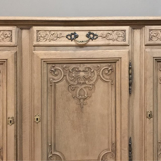 19th Century Country French Regence Stripped Oak Buffet For Sale - Image 12 of 13