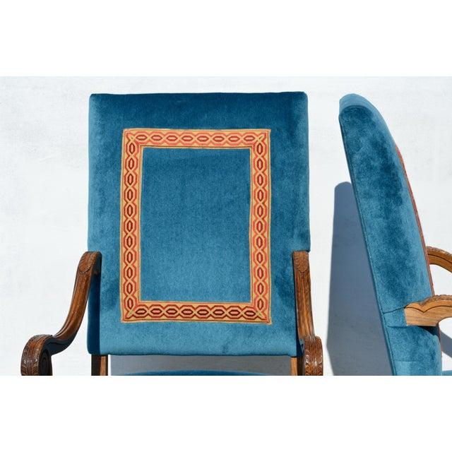 Louis XIV Louis XIV Style Os De Mouton Armchairs, a Pair For Sale - Image 3 of 12