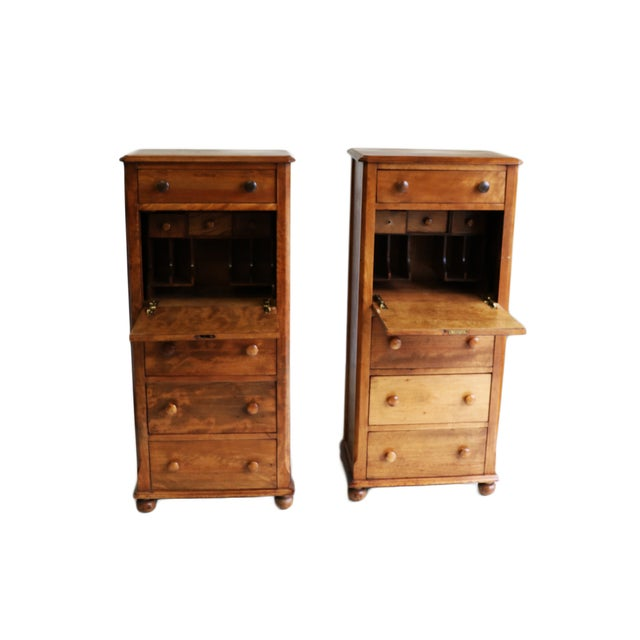 American Fruitwood-Walnut Secretaries - A Pair For Sale In Baltimore - Image 6 of 8