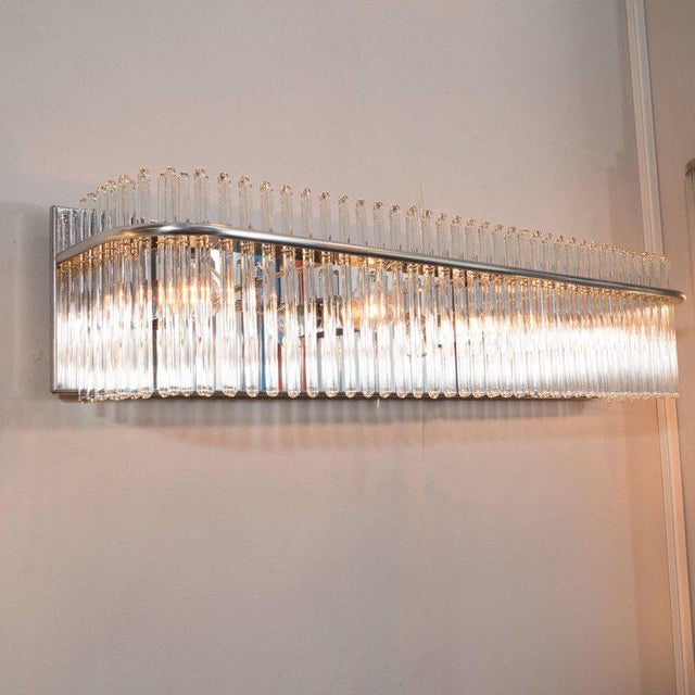 World-Class Mid-Century Modern Vanity Light with Chrome and Glass ...