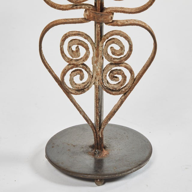 Metal 19th Century Victorian Iron Lamps For Sale - Image 7 of 9