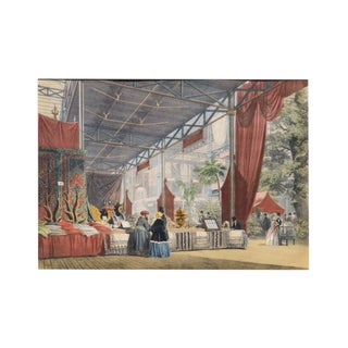 "Lowes Cato Dickinson Scene From ""Great Exhibition of 1851"" London 1854 For Sale"