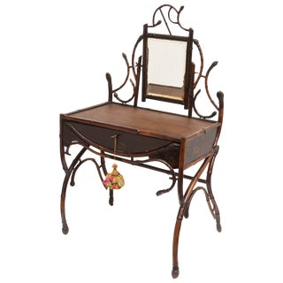 "Fine 19th Century Bamboo Vanity ""Estate of Lilly Pulitzer"""