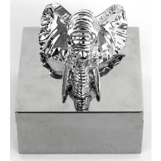 Hans Turnwald Silver Elephant Hinged Box W/ Box Preview
