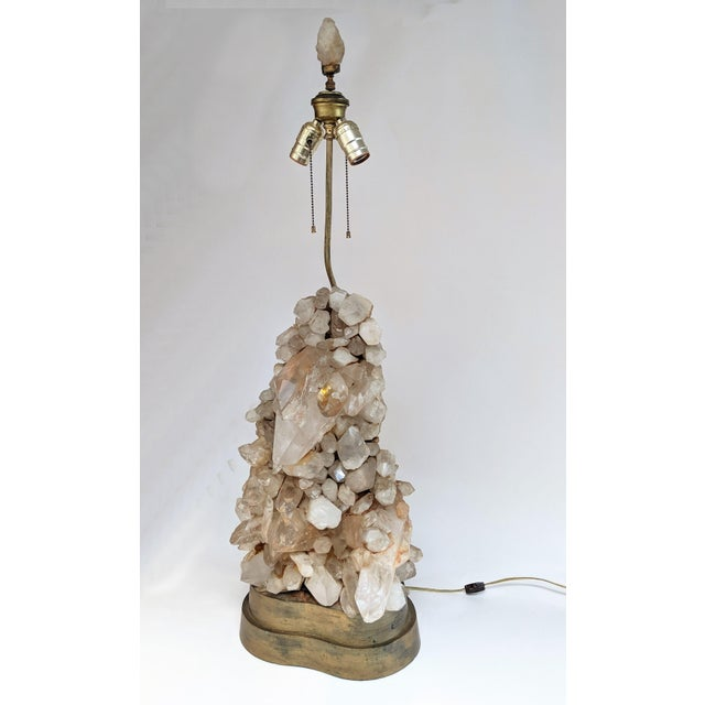 Carole Stupell Carole Stupell Quartz Rock Crystal Lamp For Sale - Image 4 of 10