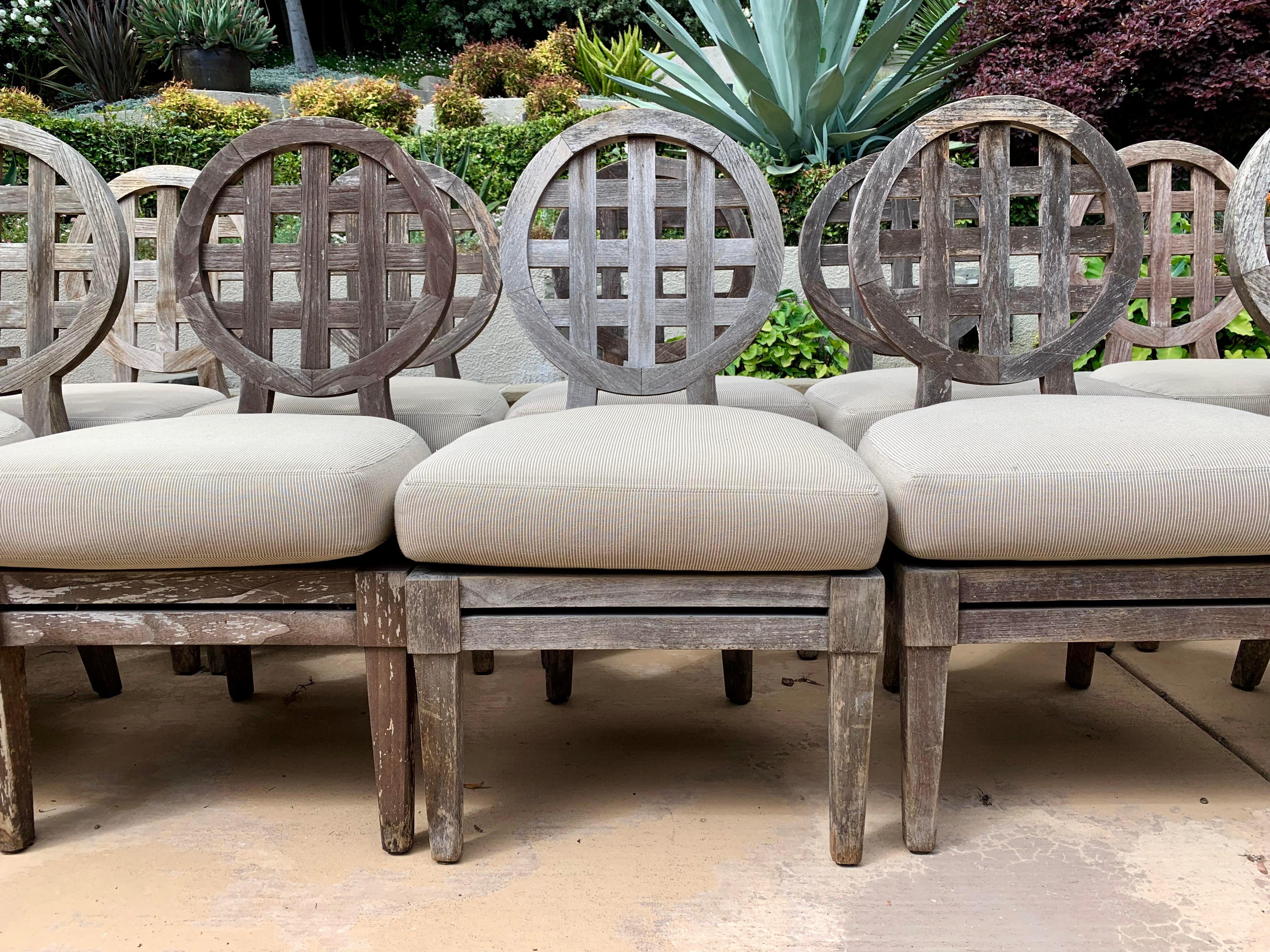 McGuire Solid Teak Outdoor Chairs: Portico Collection By Orlando Diaz Azcuy