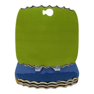 Colorful Luncheon Plates, Set of 4 For Sale
