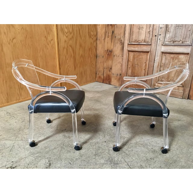 Vintage Mid Century Sculptural Lucite Dining Chairs- Set of 8 For Sale - Image 11 of 13