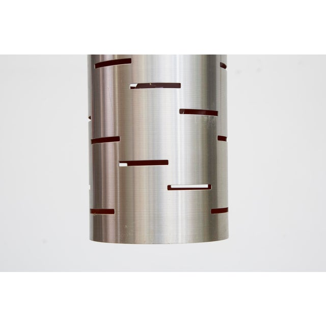 Mod Cylinder Pendant Light With Linear Cut - Image 5 of 8