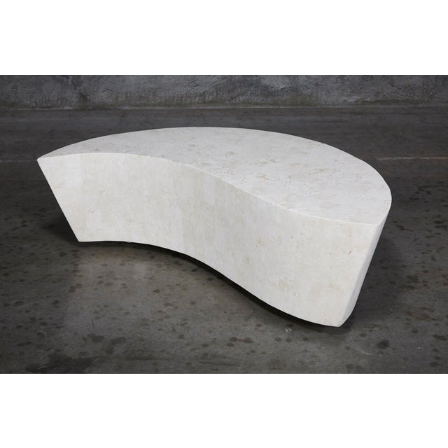 "1990s Contemporary White Freeform Tessellated Stone ""Hampton"" Coffee Table For Sale - Image 13 of 13"