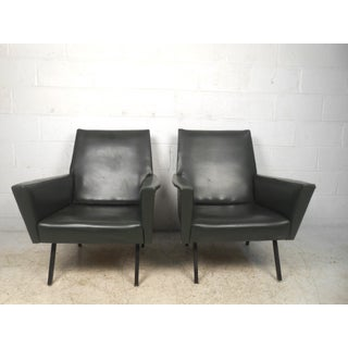 Pair of Mid-Century Modern Winged Arm Lounge Chairs Preview