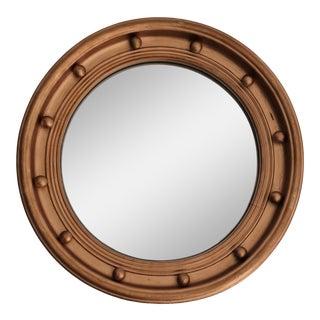 Art Deco Bullseye Round Convex Mirror For Sale