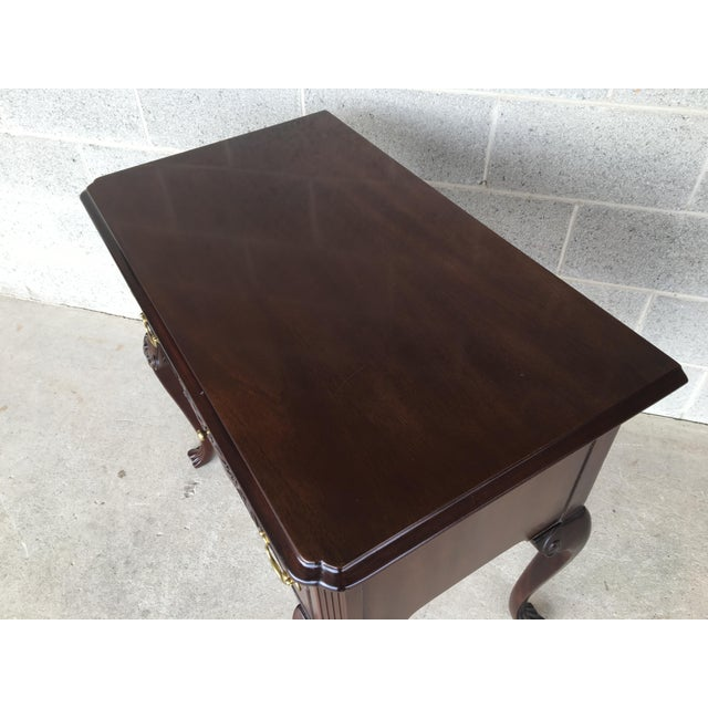 Councill Furniture Councill Craftsmen French Chippendale Style Solid Mahogany 5 Drawer Lowboy For Sale - Image 4 of 11