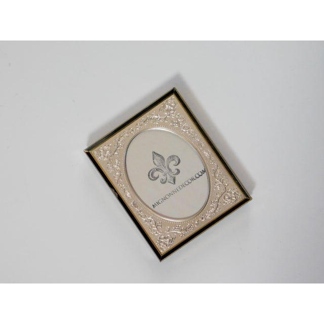 Traditional Brass Floral Picture Frame For Sale - Image 3 of 7