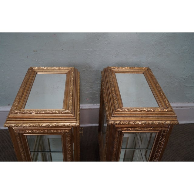 Gilt French Louis XV Vitrine End Tables - Pair - Image 9 of 10