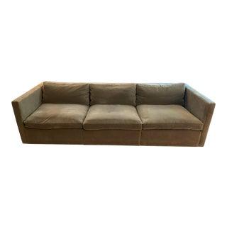 Celadon Velvet Knoll Sofa For Sale