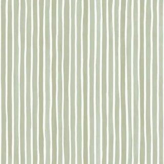 Cole & Son Croquet Stripe Wallpaper Roll - Olive For Sale