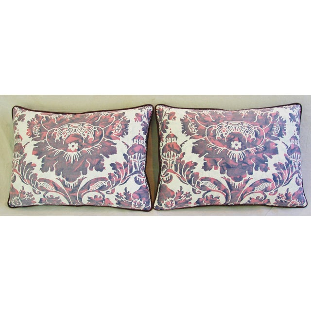 Designer Italian Fortuny Vivaldi Pillows - A Pair - Image 6 of 11