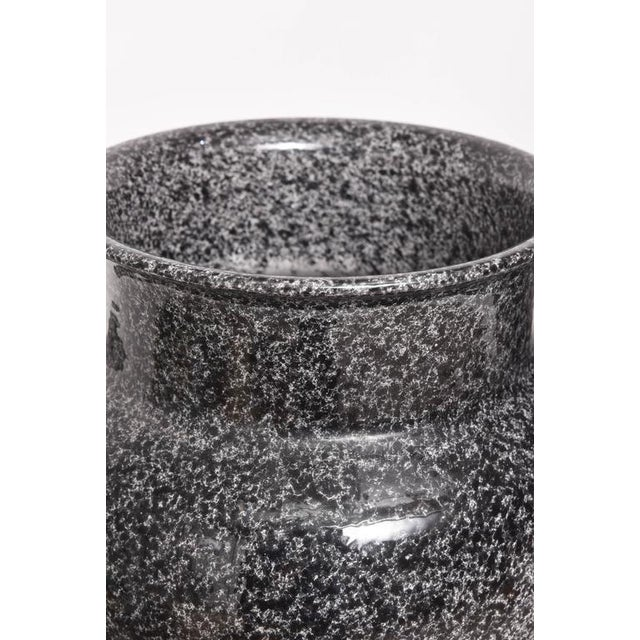 Gray Mid-Century Glazed American Black and Gray Pottery Urns Planters - a Pair For Sale - Image 8 of 9