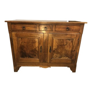 French Provincial Walnut Buffet Bas Ca. 1840 For Sale