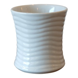 Wavy Texture Ceramic Vessel For Sale