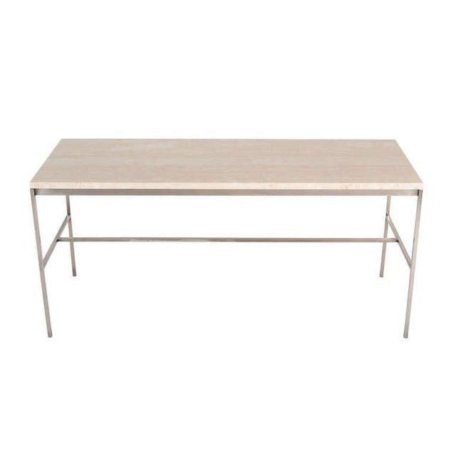 Customizable Tucker Travertine Top Console For Sale In New York - Image 6 of 6