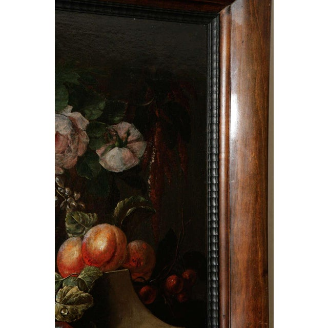18th c. Dutch Still Life Oil Painting in a 19th c. Frame. The painting has been cleaned and re-lined. H 26 in. x W 32 in....