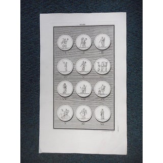 Authentic Antique Engravings-Medallions-18th Century-Set of Three Preview