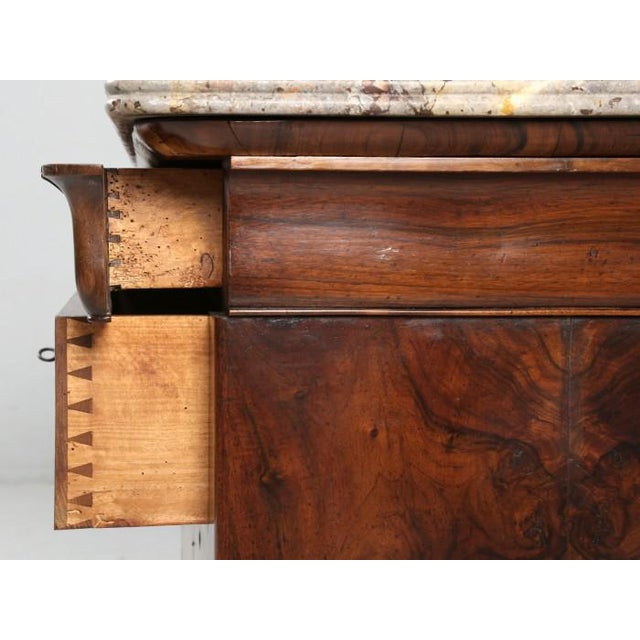 Antique Louis Philippe French Burl-Walnut Commode For Sale - Image 12 of 13