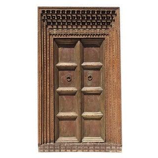 Grand Brass & Teak Carved Door