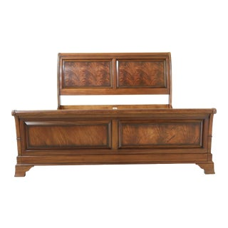 Ethan Allen King Size Mahogany Sleigh Bed For Sale