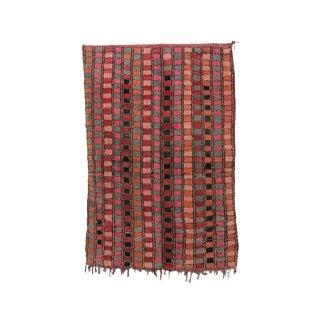 "Boujad Vintage Moroccan Rug, 5'0"" X 7'4"" Feet For Sale"