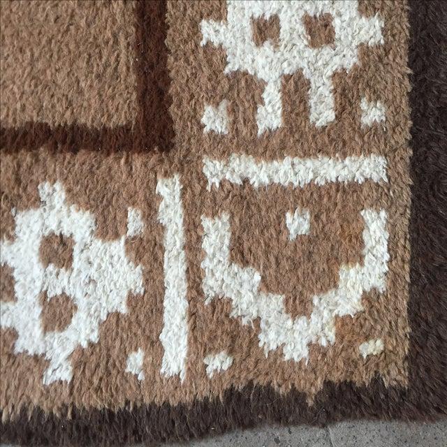 """Vintage Alpaca & Wool Peruvian Rug - 6'4"""" x 4'10"""" - Image 9 of 11"""