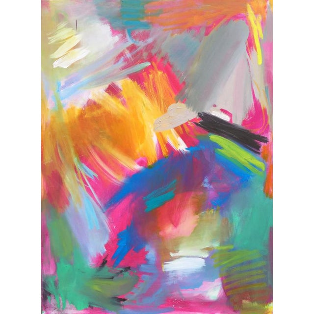 """""""Here Comes the Sun"""" by Trixie Pitts Large Abstract Oil Painting For Sale - Image 11 of 11"""