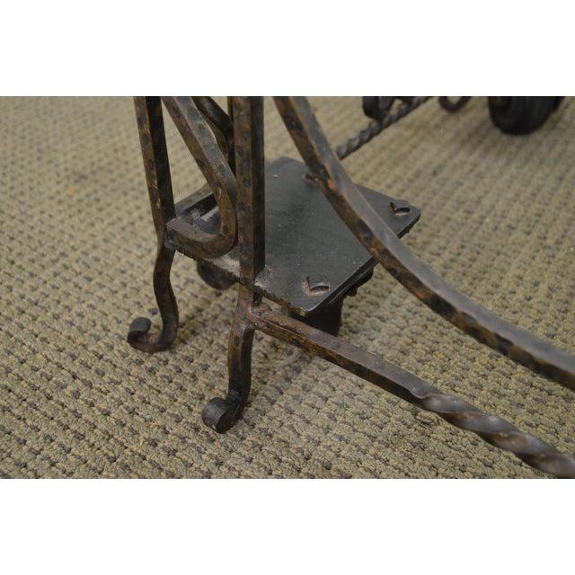 Vintage Hand Forged Iron Casket Carrier Base on Castors - Image 7 of 11
