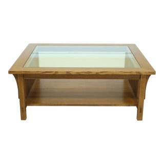 Stickley Mission Oak Arts & Crafts Coffee Table For Sale