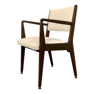 1950s Vintage Jens Risom Walnut Armchair For Sale