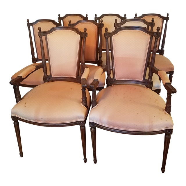 Antique Walnut Dining Chairs - Set of 8 For Sale - Antique Walnut Dining Chairs - Set Of 8 Chairish