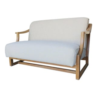 Vintage Upholstered Love Seat Settee For Sale