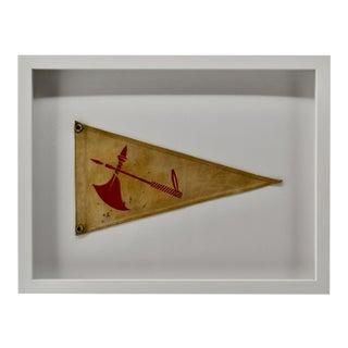 Vintage Yacht Club Flag Pennant Burgee For Sale